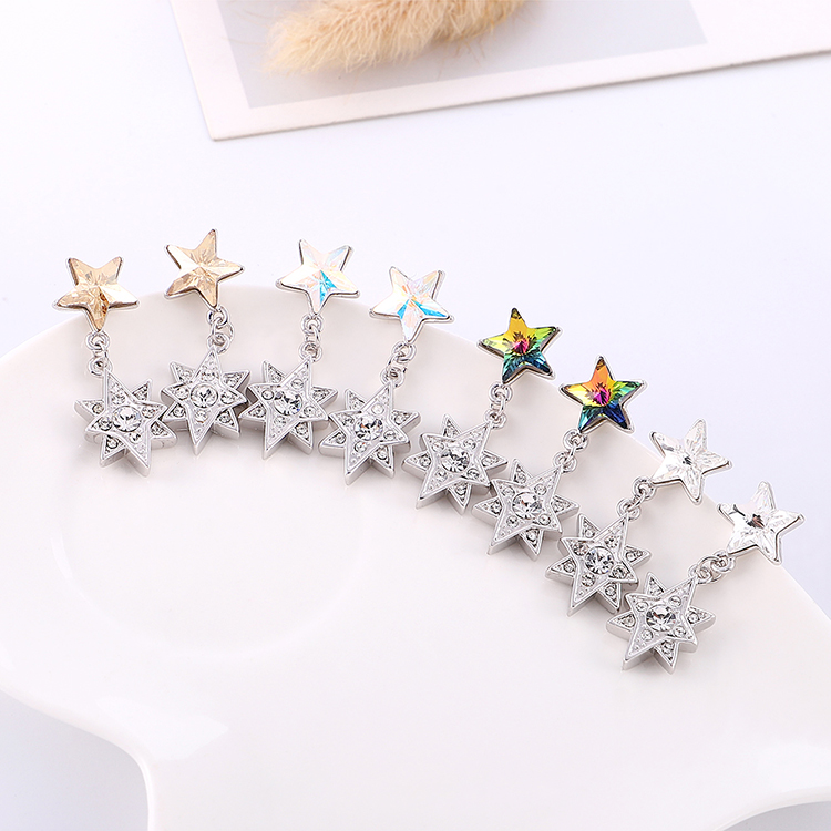 New fashion star simple crystal earrings wholesale NHSE203999