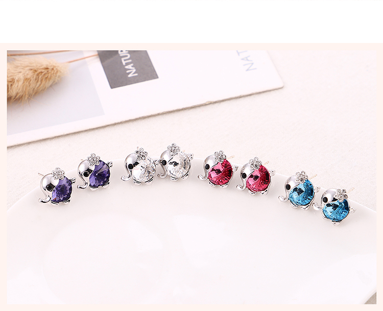 New Fashion Baby Elephant Crystal Earring Necklace Set Wholesale NHSE206847