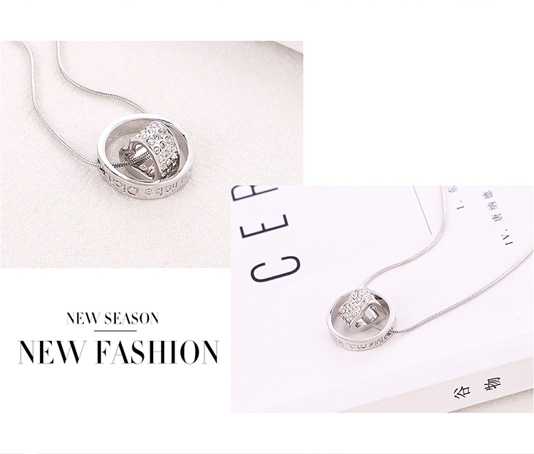 New Fashion Crystal Necklace Wholesale NHSE206848