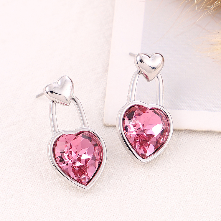 New Love Crystal Earrings NHSE206855