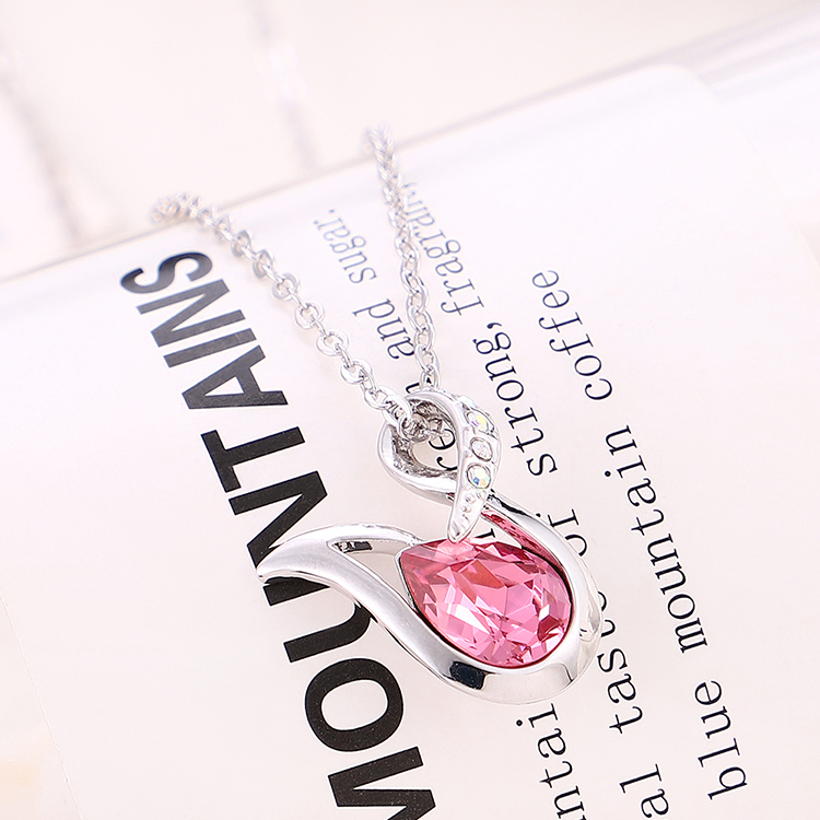 New simple crystal necklace wholesale NHSE206856