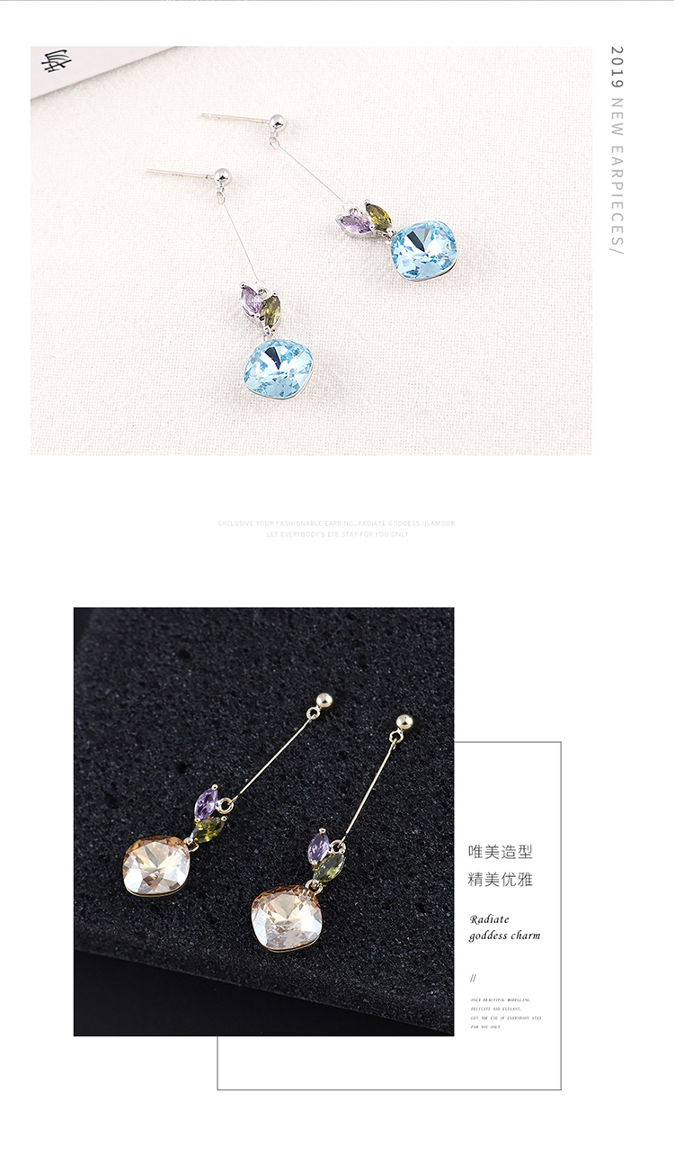 New simple crystal earrings for women wholesale NHSE205312