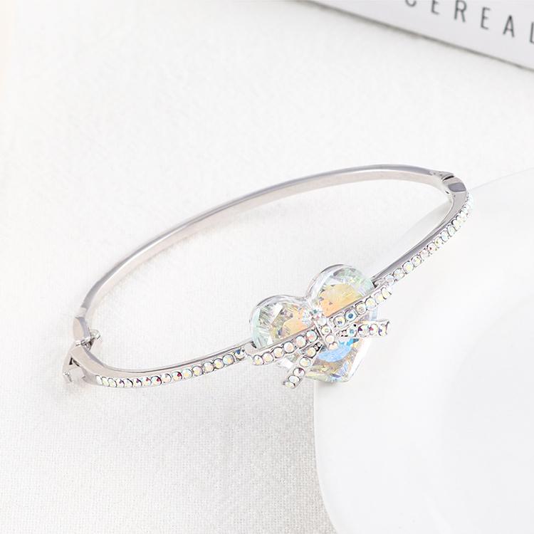 New Fashion Love Crystal Bangle Wholesale NHSE205315