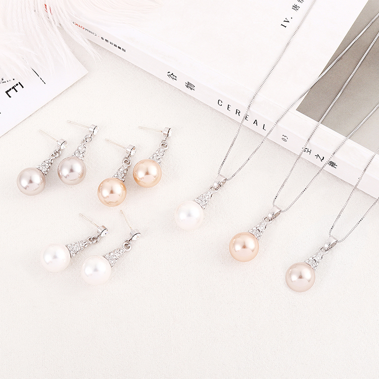 New Fashion Lighthouse Necklace Ring Crystal Set NHSE204020