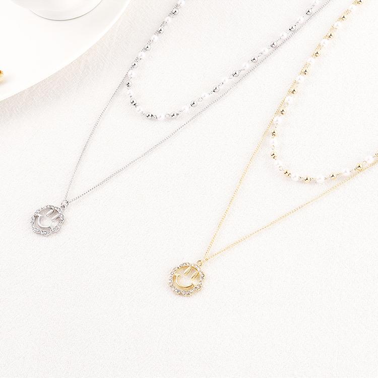Collar de cristal de moda NHSE200448