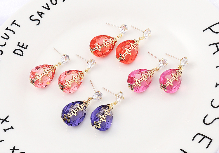 Imitated crystal Earring Fashion NHSE200316
