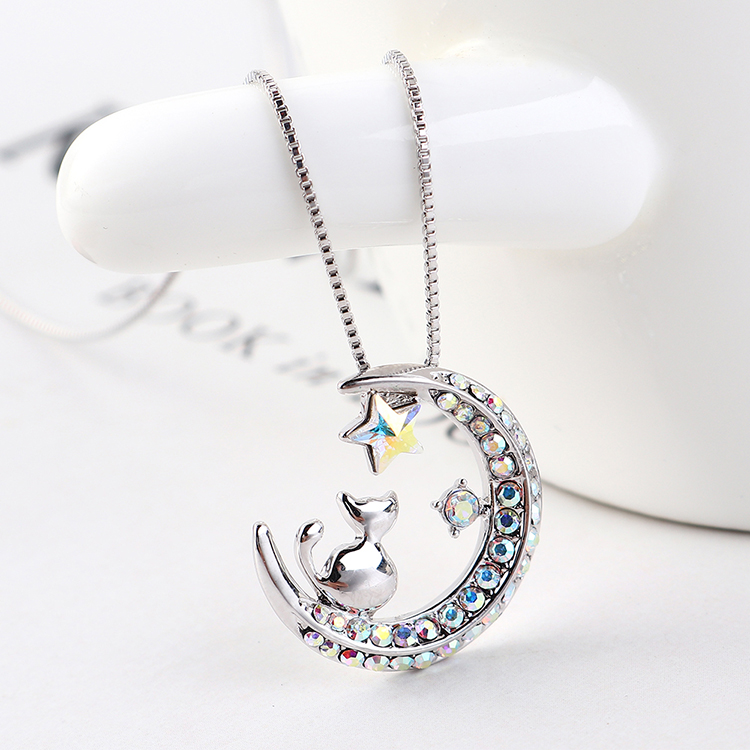 Crystal Necklace Fashion NHSE383269