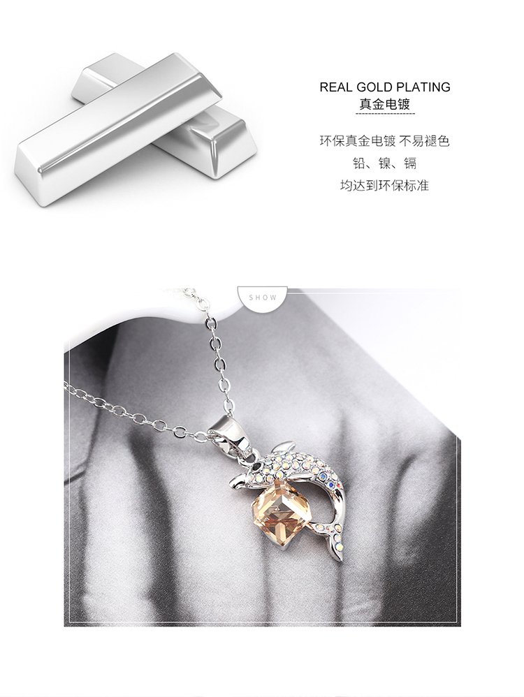 Crystal Necklace Fashion NHSE383245