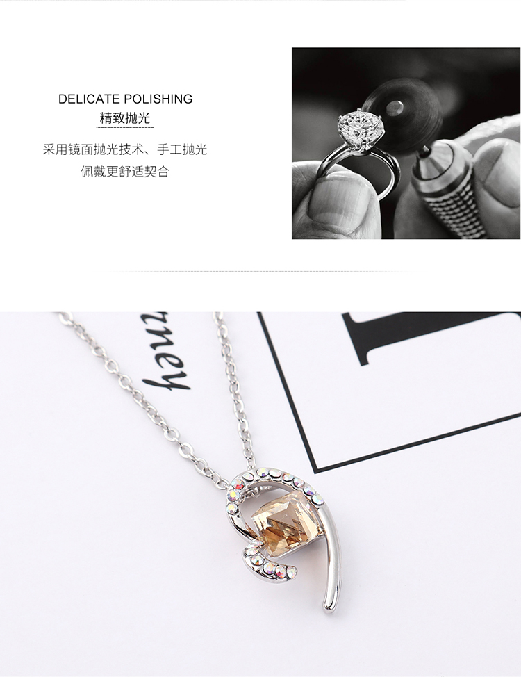 Crystal Necklace Fashion NHSE383240