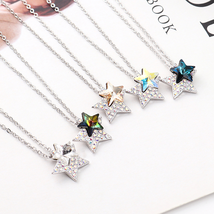 Crystal Necklace Fashion NHSE383222