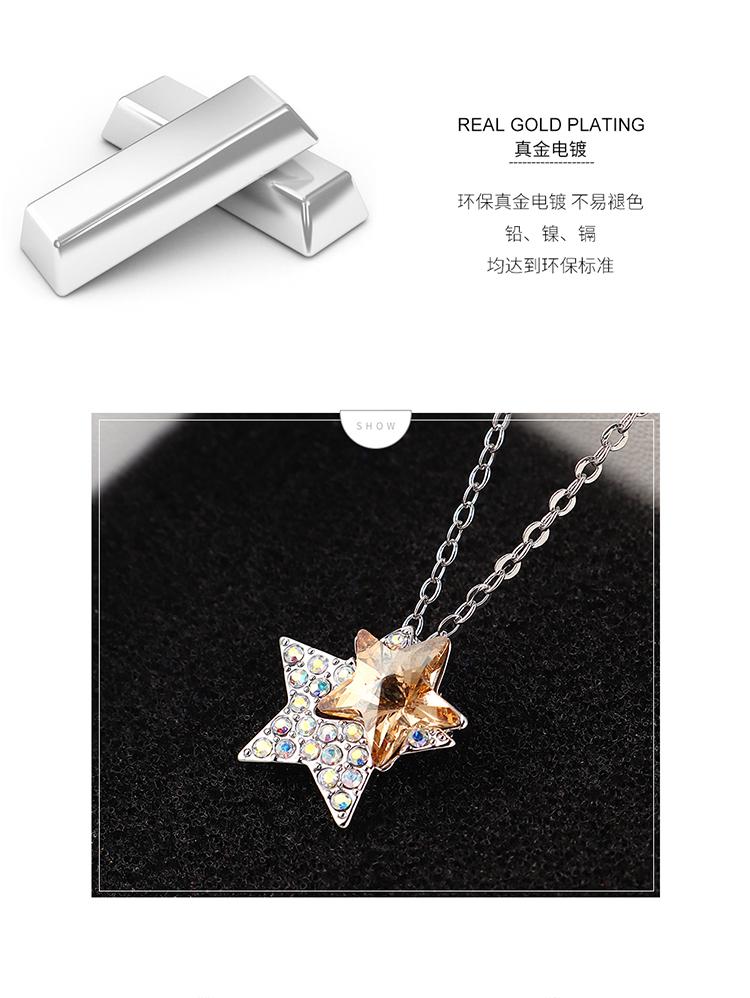 Collar de cristal de moda NHSE383222