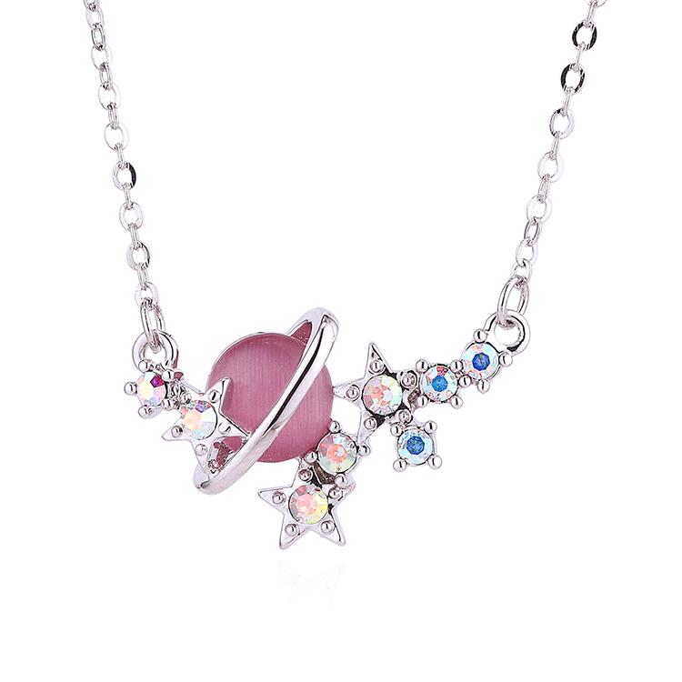 Collar de cristal de moda NHSE383011