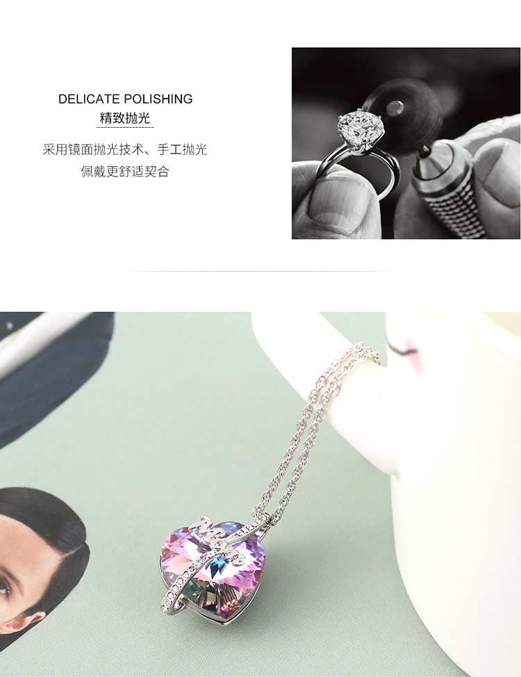 Crystal Necklace Fashion NHSE383092