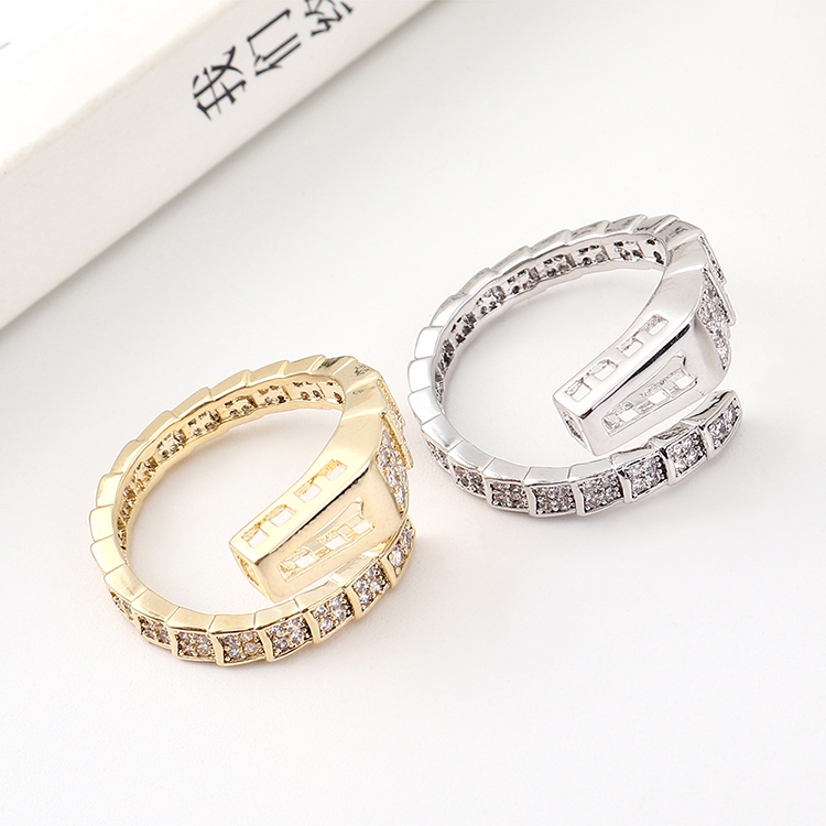 Copper & Zircon Ring Fashion NHSE383169