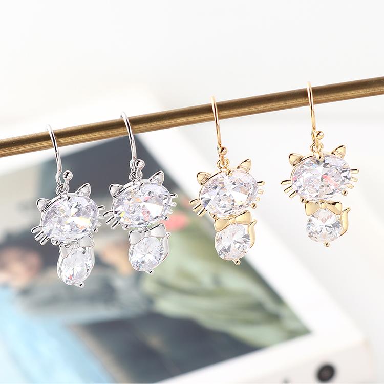 Copper & Zircon Jewelry Set Fashion NHSE383142