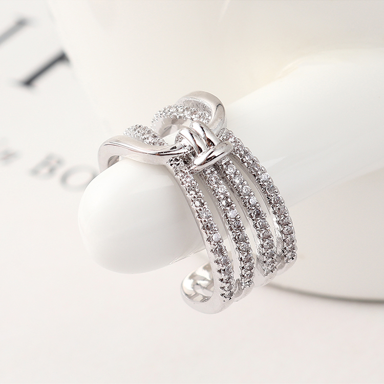 Copper & Zircon Ring Fashion NHSE383136