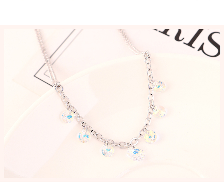 New Fashion Simple Crystal Necklace Wholesale NHSE204021