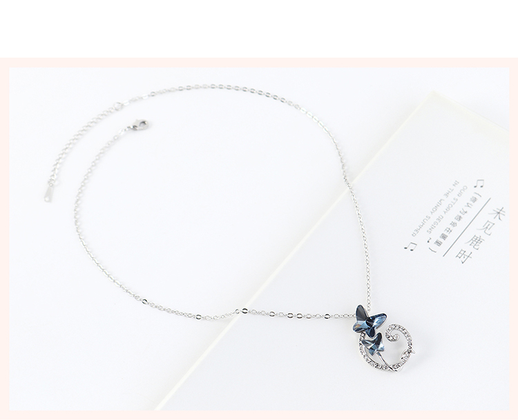 New fashion simple butterfly necklace ladies wholesale NHSE203864