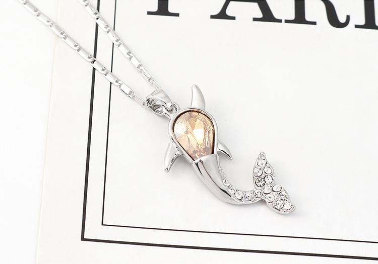 Nueva moda simple collar de ballenas al por mayor NHSE203865
