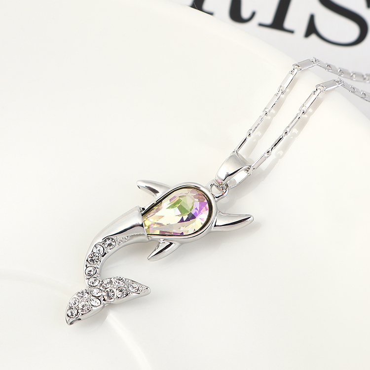New Fashion Simple Whale Necklace Wholesale NHSE203865