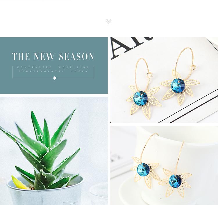 Korean Fashion Crystal Earrings Wholesale NHSE203150