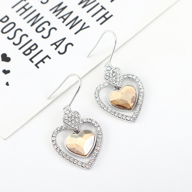 New fashion love crystal earrings yiwu nihaojewelry wholesale NHSE208216