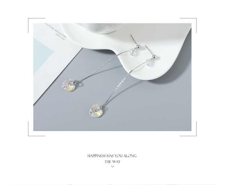 Austrian Crystal Stud Earrings Summer Sweetheart long earrings wholesale NHSE222901